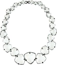 Noir Jewelry Transparent Crystal Necklace