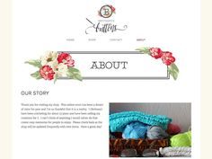 Squarespace website design for Brittany's Buttons