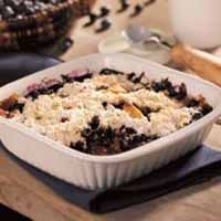 Summer berries team with apples for a great family dessert. This fruit cobbler is a lighter, fresher version of the fat-laden. Serve this dessert warm with whipped topping or ice cream.