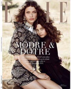 Louise Pedersen and daughter Maya on ELLE Denmark Magazine September 2016 Cover