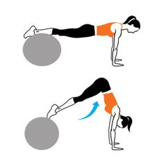 best ab workout with a swiss ball in my opinion! works on stability and balance too! :)