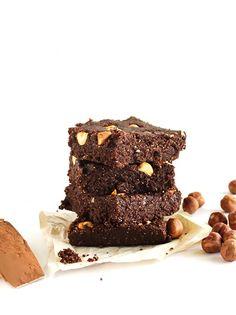No Bake Hazelnut Brownies  (Vegan Gluten Free)