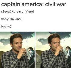 ''So was I.'' BAHAHAHAHAHA!! My thoughts exactly!!!! / Captain America : Civil War