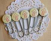 Decorated Paper Clips Arrow Paper Clips for Scrapbooking and Cardmaking Set of 6