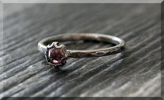 Pink C Z Ring READY TO SHIP Size 6.5 October by thewrappedpixie