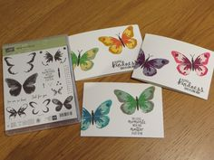 Watercolor Wings Card 'How To' Tutorial, Stampin Up UK Watercolour Wings