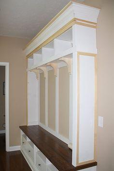 Mudroom Storage DIY