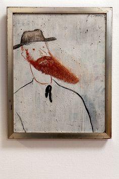 by Paul Citroen   Paul Citroen - Portret van Le Fauconnier