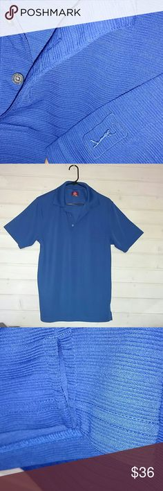 MEN'S BRIGHT BLUE STRIPED GOLF SHIRT NWOT Design as Shown  3 Button Down Style Polo  NEW !!! CHAMPIONS TOUR GOLF Shirts Polos