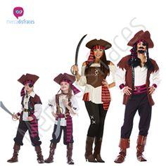 Disfraces para grupos Piratas En mercadisfraces tu tienda de disfraces online, aquí podrás comprar tus disfraces para Carnaval o cualquier fiesta temática. Para mas info contacta con nosotros http://mercadisfraces.es/disfraces-para-grupos/?p=7
