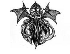 Cthulhu tatto version by Mesalia