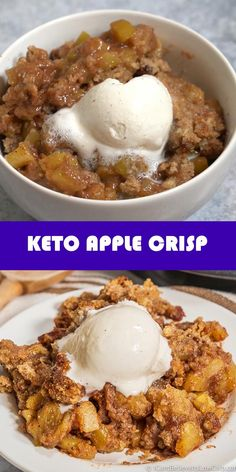 Low Carb Deserts, Low Carb Sweets, Low Carb Treat, Carb Free Desserts, Keto Dessert Easy, Dessert Recipes, Dinner Recipes, Keto Desert Recipes, Keto Apple Recipes