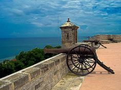 CAMPECHE MEXICO FORT CANNON