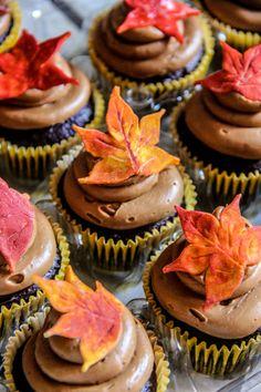 My autumn cupcakes ~ Ash Blackard Cupcake Boutique, Autumn Tea, Themed Cupcakes, Wedding Cupcakes, Fall Baking, Fall Desserts, Mini Cakes, Tea Time, Tea Party