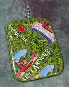 Luggage tag from Recycled Saint Arnold Fancy Lawnmower Beer Labels by squigglechick on Etsy