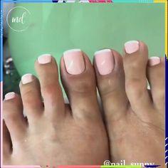 NAILS Toe nails step by step tutorialToe nails step by step tutorial Gel Toe Nails, Acrylic Toe Nails, Gel Toes, Almond Acrylic Nails, Feet Nails, Toe Nail Art, Manicure And Pedicure, Toe Nail Polish, Toenails