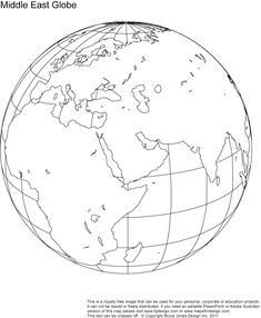 North America printable globe, perfect for a school or