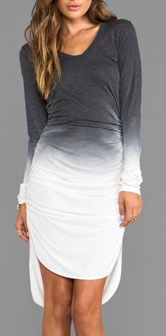 Ruched Ombre Dress. Buy the dye and do it yourself! #teachmefashion