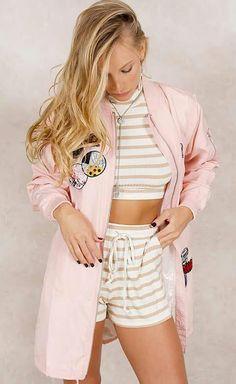 Jaqueta rosa pastel do Fashion Closet