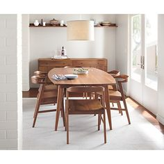 One of my favorites!  New Dining Set with Mid-Century Modern style