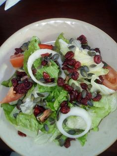 Rebel Wanderlust: Cranberry and pumpkin seed salad.