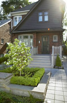 Front walkway Front Walkway, Curb Appeal, Porches, Garage Doors, Sweet Home, Sidewalk, Outdoors, Outdoor Decor, Projects
