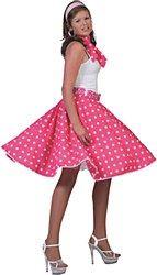 Neon Orange Rock N Roll Skirt /& Scarf Set 1950s 1960s Fancy Dress