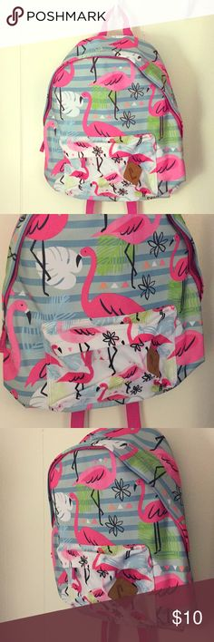 "NEW Flamingo Kids Backpack NEW🔴 16"" Kids Backpack with flamingo print  Two pockets, brand new!! Accessories Bags"