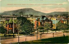 Tennessee, TN, Chattanooga, Lookout Mt fr Univ of Chattanooga Early Postcard