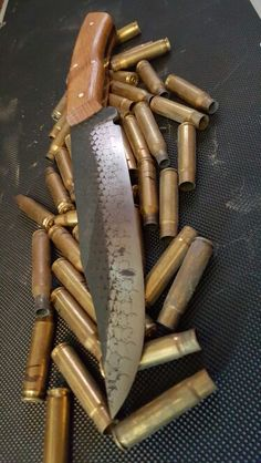 8 inch farriers rasp bowie knife,  with white oak handle