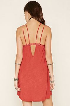Embroidered Cami Dress