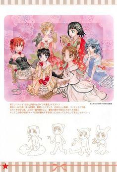 Tachibana Higuchi, Gakuen Alice, Graduation - Gakuen Alice Illustration Fanbook, Ruka Nogi, Mikan Sakura