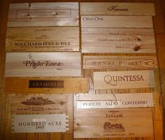 Super Lot Wine Wall Sign 13 Wood Box Crate Ends Panels Napa Spain France Italy | eBay