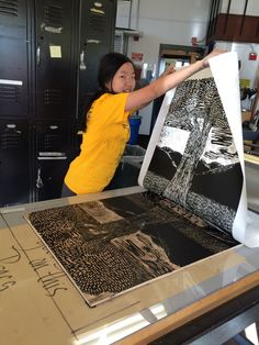 BIG INK is large woodcut. — BIG INK is stoked to partner with Roger Williams...
