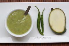 Raw Mango Gojju (Mavinakayi Rambana) Goan Recipes, Mango Recipes, Indian Food Recipes, Ethnic Recipes, Konkani Recipes, Mangalore, Chutneys, Karnataka, Pickles