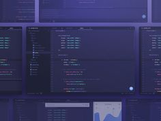 code editor redesign designed by uixNinja. Connect with them on Dribbble; Web Design, Tool Design, Design Ideas, Page 404, Flat Ui, Admin Panel, Dashboards, Material Design, User Interface