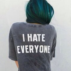 I hate everyone tee BNWT Brandy Melville Tops I Hate Everyone, Chloe Price, Looks Cool, Grunge Fashion, Swagg, Style Me, Chill Style, Cool Hairstyles, Hairstyle Ideas