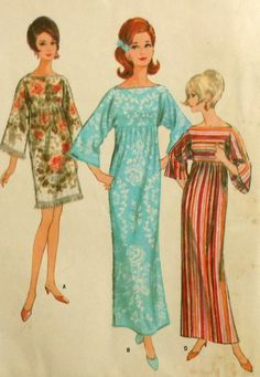 Vintage 60s Robe Sewing Pattern. I had a few of these, three bath towels sewn together. So comfy!