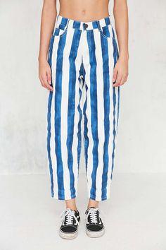 BDG Jerri Striped Wide-Leg Jean