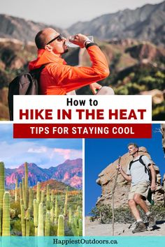 Find out how to stay cool when you hike in the heat. Tips for hiking in hot weather. How to avoid getting heat stroke. How to stay comfortable on a hike when it's hot out. Hiking tips for the hot weather. Go Hiking, Hiking Tips, Travel Tips, Travel Destinations, Backpacking Tips, Best Hikes, Stay Cool, All Over The World, Discovery