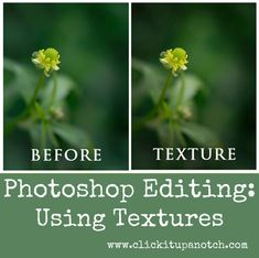 Photoshop Editing: Using Textures by Kim Young via Click it Up a Notch
