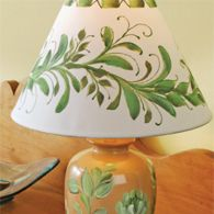 Botanical Lamp and Shade:  Donna Dewberry Show,  Episode # 204. Supplies and directions are listed on the site. Create TV.