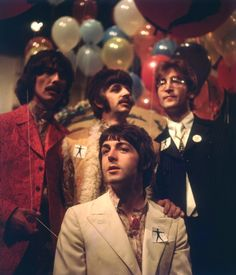 George Harrison, Richard Starkey, John Lennon, and Paul McCartney