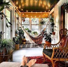 Bohemian House, Bohemian Bedrooms, Bohemian Style, Modern Bohemian, Boho Chic, Hippie Style, Sunroom Decorating, Interior Decorating, Decorating Ideas