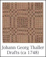 Hand Weaving Drafts From Johann Georg Thaller Manuscript - Handweaving.net Hand Weaving and Draft Archive