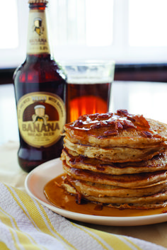 Beer and bacon give morning flapjacks knockout flavor. Choose a brew with luscious banana and toffee notes (Wells Banana Bread Beer is the obvious choice), enrich the batter with buttermilk and sour cream, and stud it with applewood-smoked bacon bits for pancakes that are both ethereal and umami-rich. Top them with another crumble of bacon, and serve with a heady beer-spiked maple syrup reduction. Suddenly, your kitchen is IHOP: Inebriated House of Pancakes.