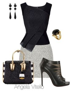 Untitled #671 by angela-vitello on Polyvore featuring polyvore, fashion, style, Roland Mouret, Christian Louboutin, MCM, Valentin Magro, Givenchy, Proenza Schouler and clothing