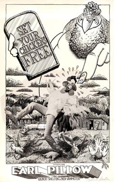 Original poster art for a short film created by Gilbert Shelton... Original poster art for a short film created by Gilbert Shelton 1974. I cant find the actual movie butcheck out this weird mashup!