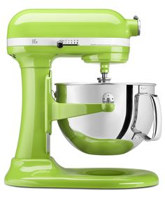 KitchenAid KP26M1X Stand Mixer, 6 Qt. Professional 600 in green apple.