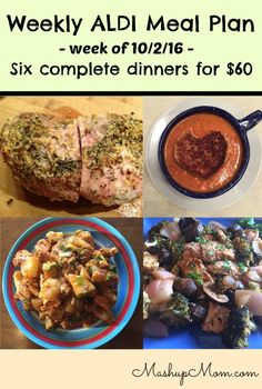 How about an easy ALDI meal plan for the week of 10/2/16? Pick up everything on the shopping list below, then start cooking on Sunday! Hope you find it useful.  ALDI meal plan week of 10/2/16 – 10/8/16 Six complete dinners for a family of four for $60.00 Note: Prices here are collected from this week's adand my local store, but may vary by location. I'm assuming here that you already have pantry basics like olive oil and spices  {Read More}